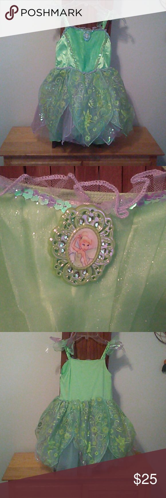 NWOT Tinker Bell Disney Costume L/10  So cute for the princess in your life. 100% polyester. Disney Store Costumes Theater