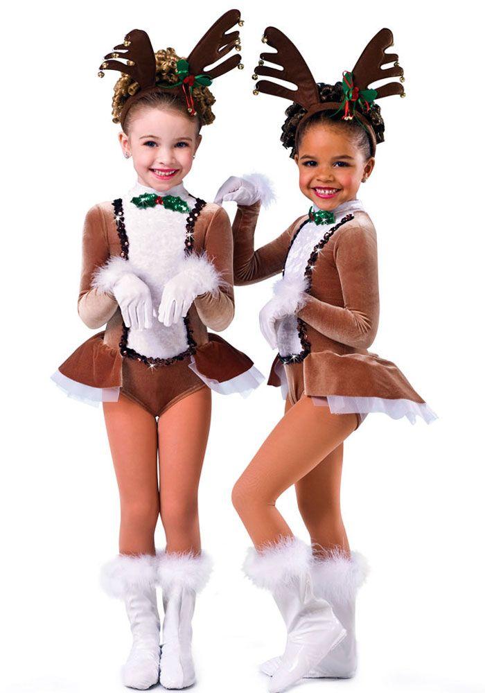 H104N - Run Run Rudolph, Reindeer costume, Christmas show, Rockette