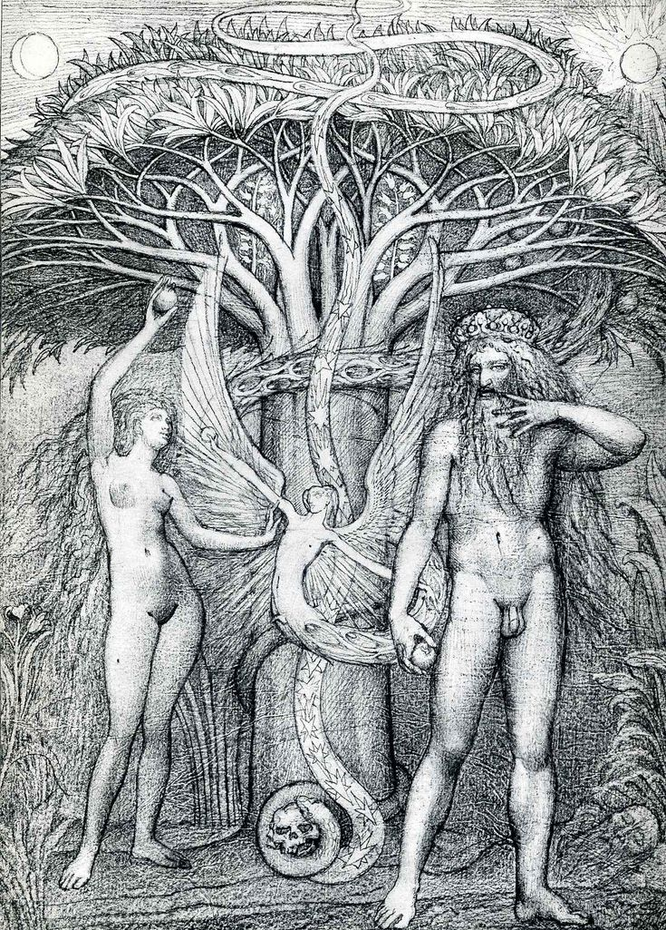 Adam and Eve under the tree of knowledge - Fuchs Ernst