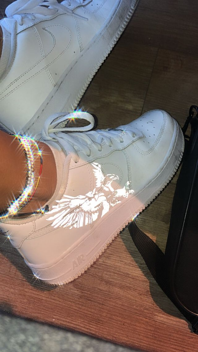 Reflective Eagle Air Force 1 A By Kaiicustoms In 2020 Nike Air Force Ones Cute Shoes Nike Air Force Sneaker