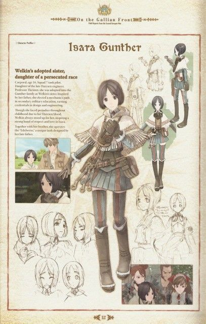 Isara Gunther -Valkyria Chronicles  All of the feels for her!! <3
