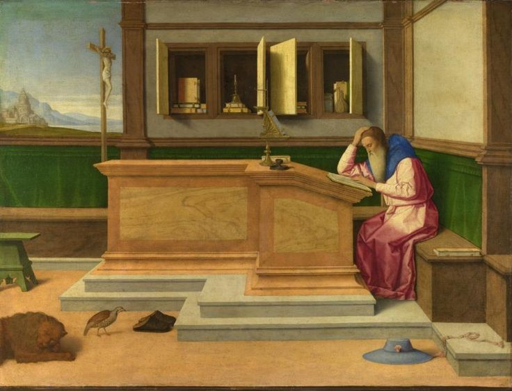 Saint Jerome in His Study  :  Vincenzo Catena  :  circa 1510 #RenaissanceVenetianschool