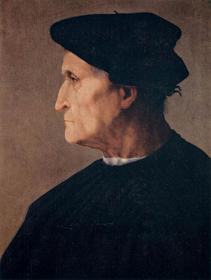 Rosso Fiorentino (Italie, 1494-1540) Portrait d'un homme (1520-1522) Palazzo Pitti, Florence