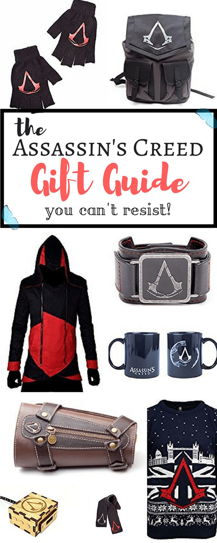 With the new release of Assassin's Creed: Origins, comes a new chapter of fun for the game series lovers (us included!), and with Christmas coming up, we were trying to find the coolest, and of course, practical stuff out there for the guys and gals who just LOVE Assassin's Creed and everything about it.