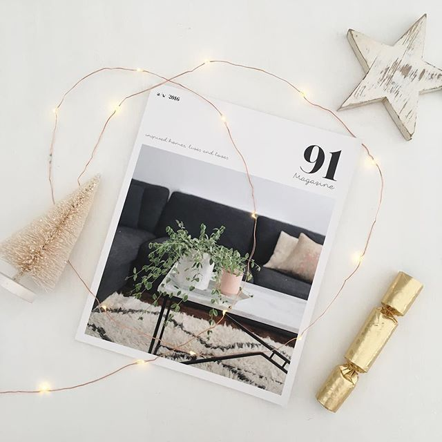 We've got our last little bit of Christmas inspiration on the blog today, so pop over for a dose of seasonal sparkle! Oh, and order your copy of the A/W issue by Monday if you'd like it for the holidays, as it's our last day for posting on Tuesday. It's a great little stocking filler or secret santa gift we think!! 😉