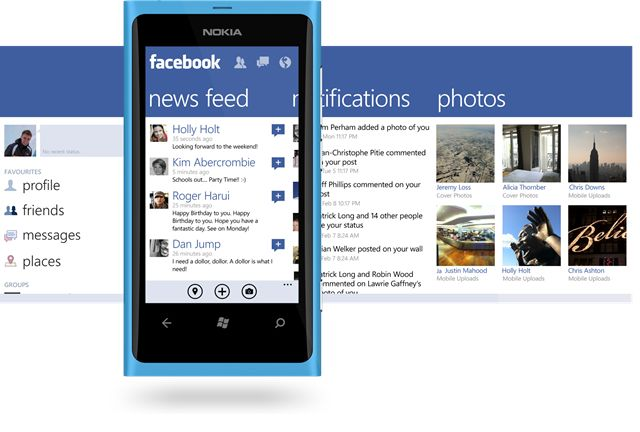 The new Facebook app for windows phone! Great update, now on the marketplace.