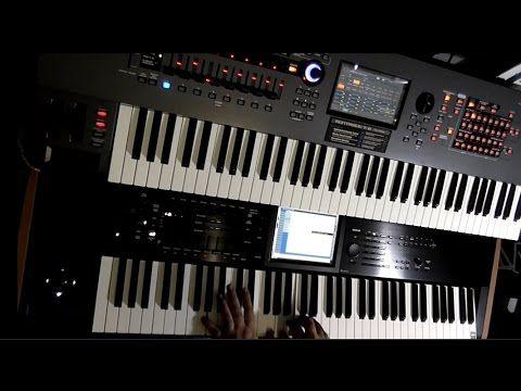 Yamaha Montage 7 + Korg Kronos 2 Jamming by Alex Di Donna ( Part 1 - Pia...