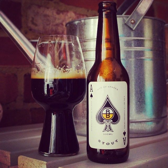 BrewBoys Ace of Spades Stout in a #Spiegelau stout glass from @greeny964 on instagram. #stout #craftbeer