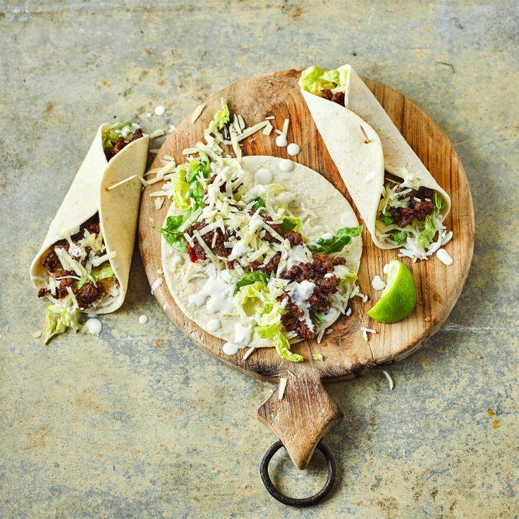 Sticky Chilli Beef Burritos & Lime Mayo