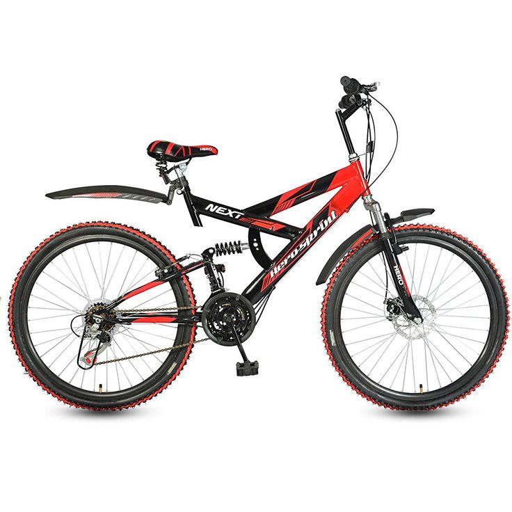 Hero Cycles with Gear and Disc Brake Price | Hero Next Speed Hi Sprint Carbon-Steel Bicycle (Black)
