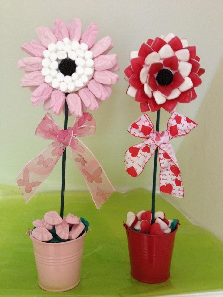 Shrimp & Marshmallow or Haribo Love Heart Candy Flower