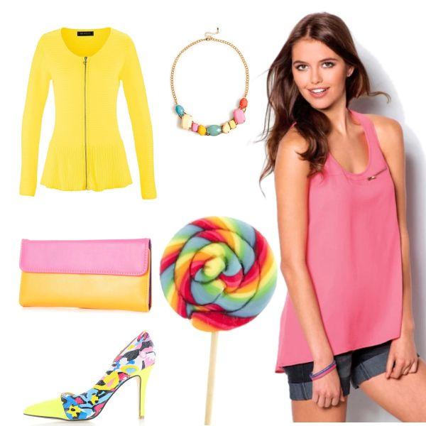 Růžová+žlutá? #ping #yellow #top #spring #summer #růžová #žlutá #jaro #léto