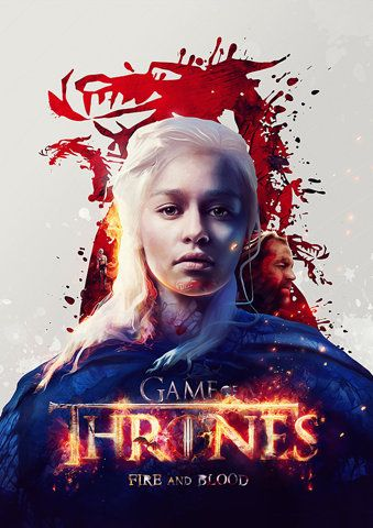 Funkrush — Game of Thrones 'Fire and Blood' Poster Print