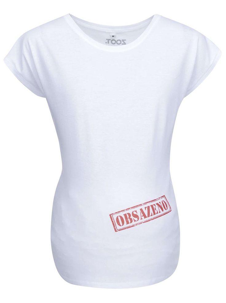 Ťuk, ťuk, kto je tam?  Či už vaše bruško okupuje dievčatko, alebo chlapček, určite sa vám zíde toto tričko z tehotenskej kolekcie ZOOT Originál.