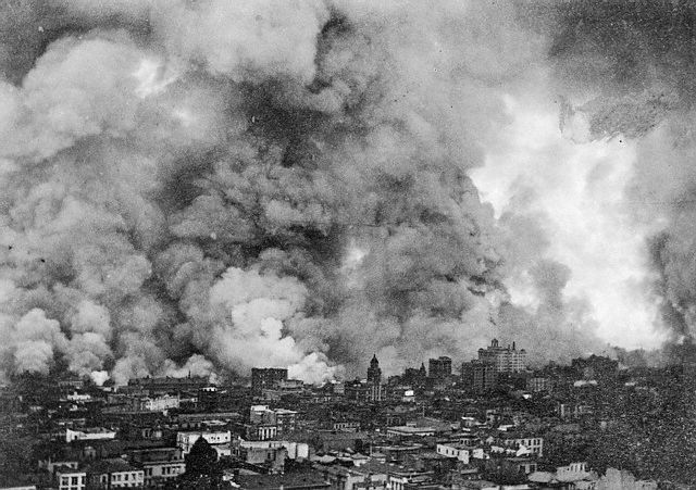 san francisco earthquake 1906   1906 - San Francisco Earthquake: Before and After Journey Down Market ...