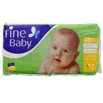 Buy online #Fine Baby Small 2 3 - 6 Kg 40 #Diapers/Wipes @ luluwebstore.com for AED26.80