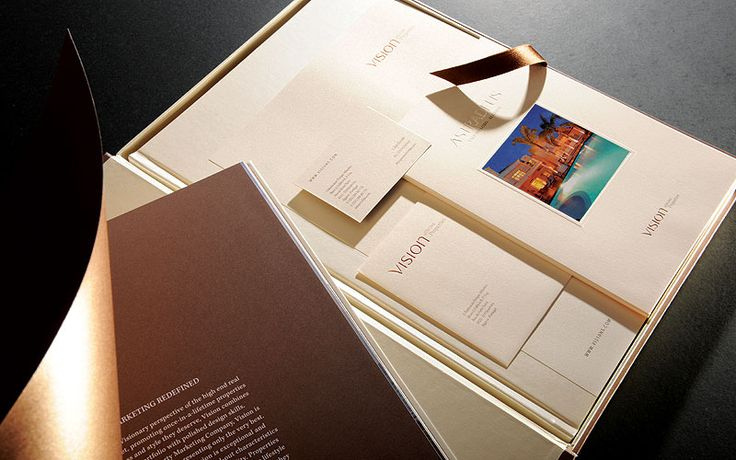 Beautiful real estate brochure for luxury developments.