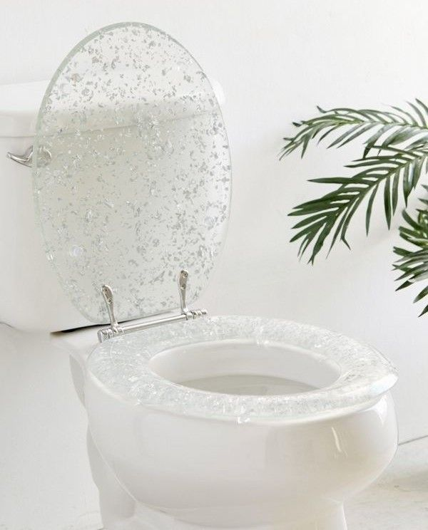 28 Beautiful Versions Of Things You Use All The Time Toilet Seat Glitter Toilet Seat Toilet Seat Cover