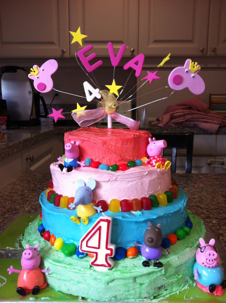 Peppa pig party cake