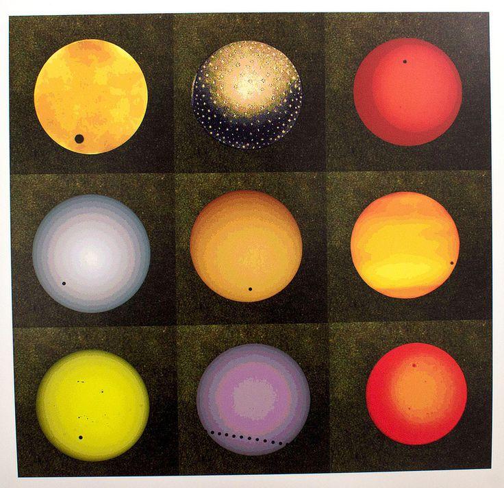 linoleum I would like to see (coloured Suns) | mandy robinson
