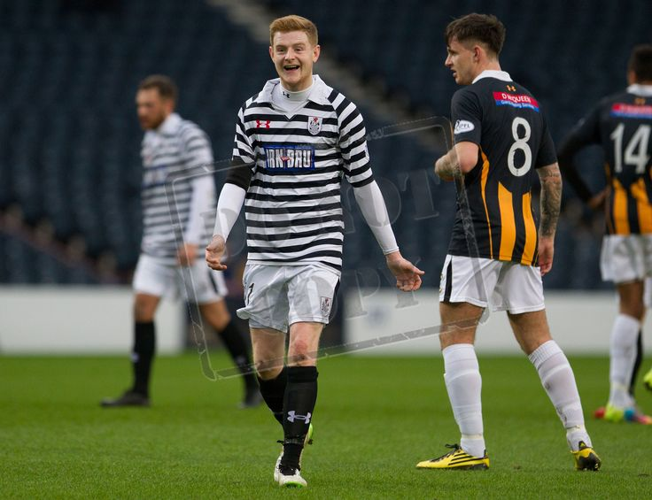 Queen's Park's Ciaran McElroy celebrating his goal during the SPFL League Two game between Queen's Park and East Fife.