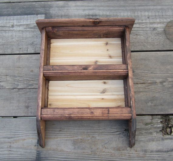 Country Spice Rack  Wood Shelf  Dark Wood  by CountryByTheBumpkins, $50.00