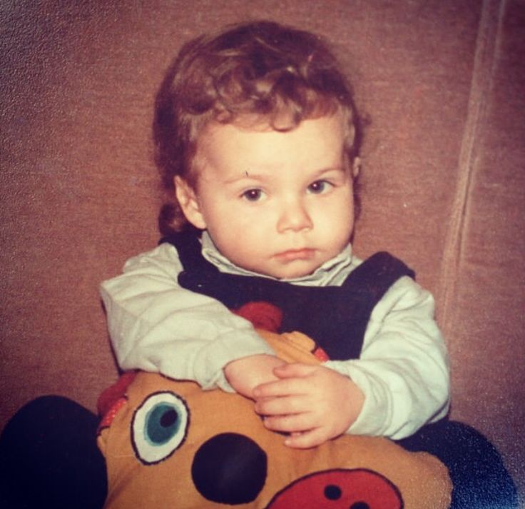 My future hubby, as a baby. Cute as a button, with curly blonde hair and big blue eyes. Circa 1988