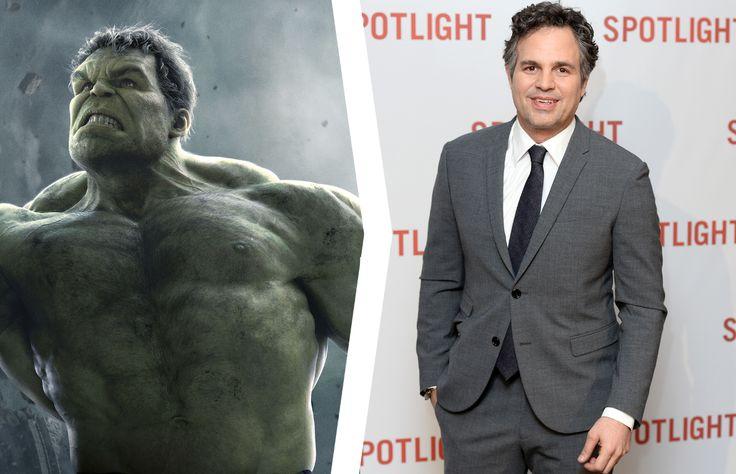 Mark Ruffalo as Hulk - Marvel/Walt Disney Pictures/Kobal/Rex/Shutterstock; Jeff Spicer/Getty Images