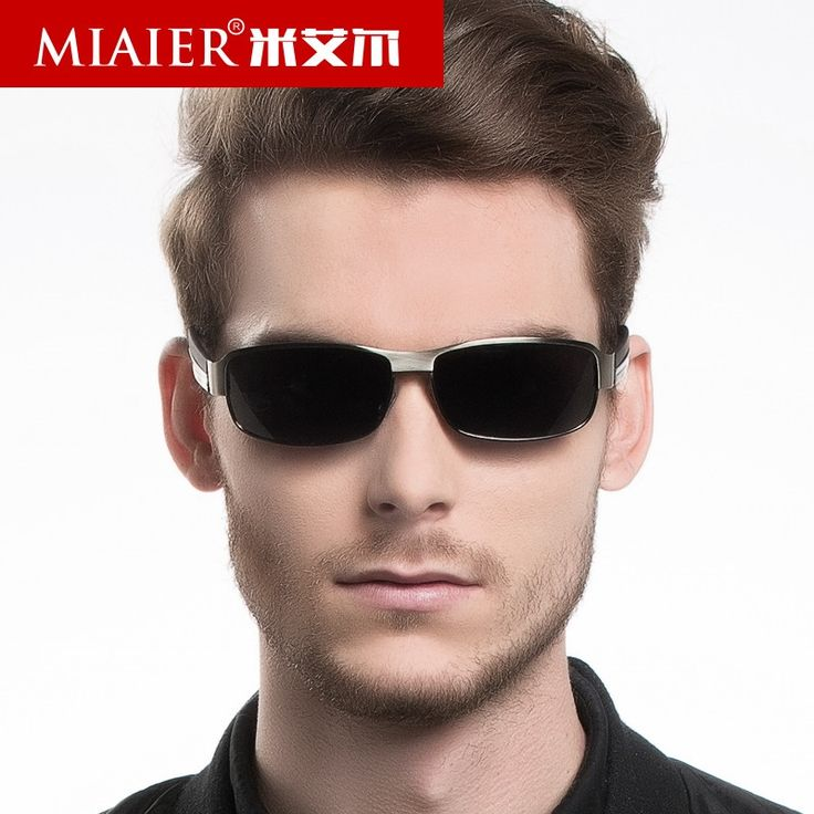 32.46$  Watch now - http://aixrc.worlditems.win/all/product.php?id=32799376034 - MIAIER Polarized Sunglasses Men 2017 Gray Alloy Frame Men Luxury Brand Design Sunglasses New Style Glasses Driver