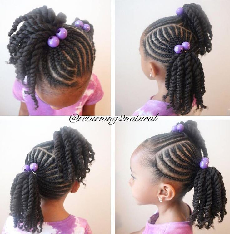 Asymmetrical+Twisted+Pigtails
