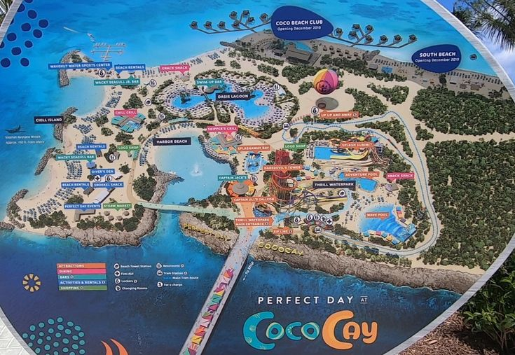 cococay map.jpg Royal caribbean, Royal caribbean cruise