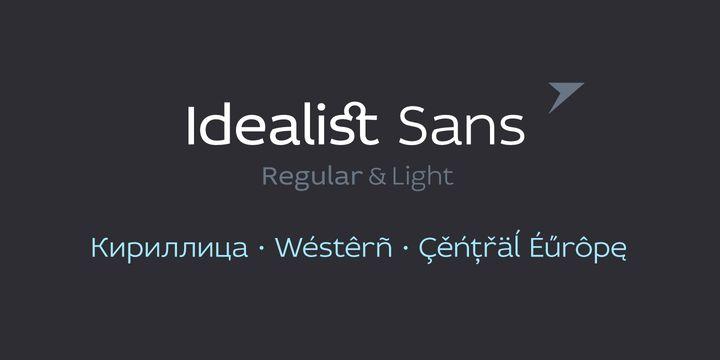 Idealist Sans ($0) - http://fontsdiscounts.com/idealist-sans-0/