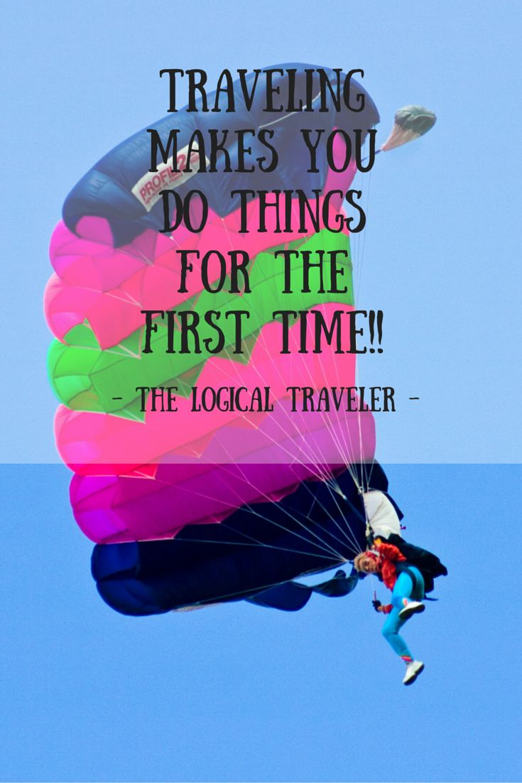 Traveling sure does make you do things for the first time... :)