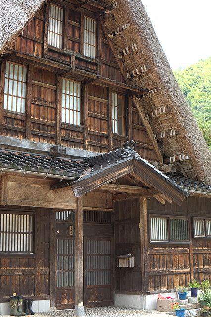 Minka. Japanese Architecture. Rustic Japan. Gokayama, Toyama, Japan
