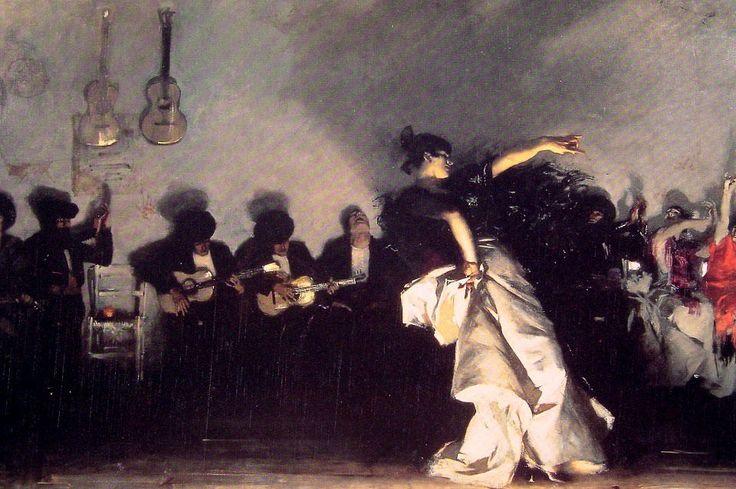 E l Jaleo, huile sur toile de John Singer Sargent (1856-1925, Italy)