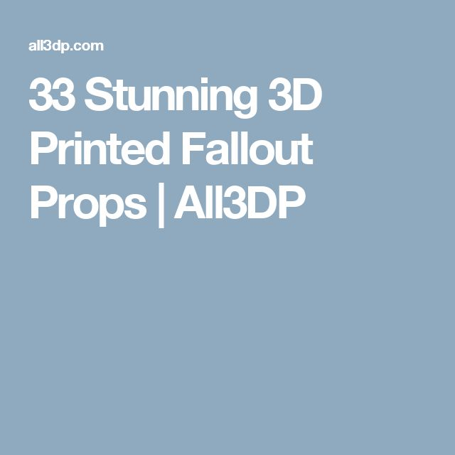 40 best cr 10 3d printing images on pinterest hard hats 33 stunning 3d printed fallout props all3dp fandeluxe Choice Image