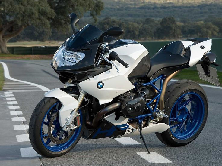 BMW Sport Motorcycle. Also a way to show off a motorcycles style and flare. The way the colors are designed and arranged can be analyzed more.