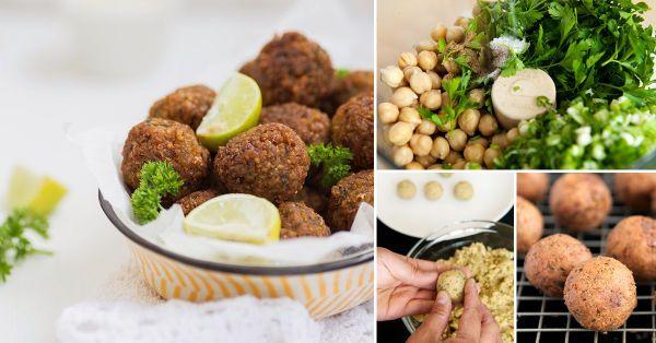 El faláfel es una comida originaria de India. Se trata de crujientes croquetas de garbanzos o habas. Se las puede comer en sándwiches y ensaladas o solas, como tentempié.
