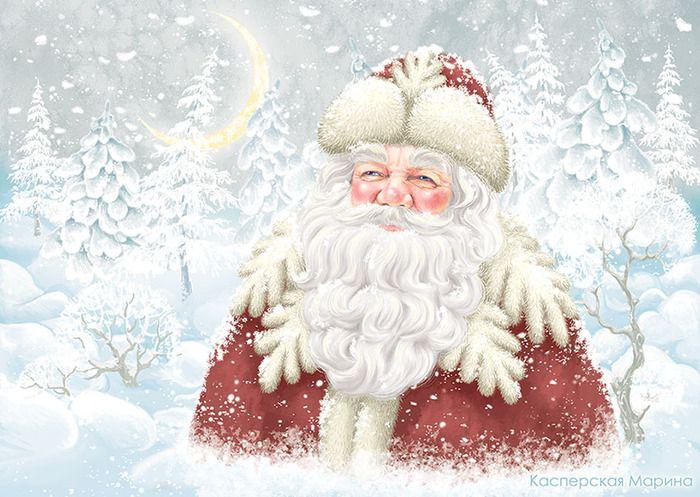 Сообщество иллюстраторов | Иллюстрация Касперская Марина - Дед Мороз (Новый год). Другое, Книжная графика, Декоративный. Смешанная техника, Компьютерная графика, Растровая (цифровая) графика