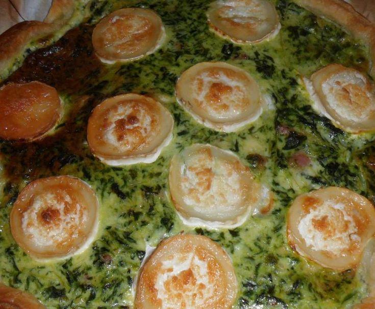 Recette Quiche Epinards, Lardons Chevre par gege44 - recette de la catégorie Tartes et tourtes salées, pizzas
