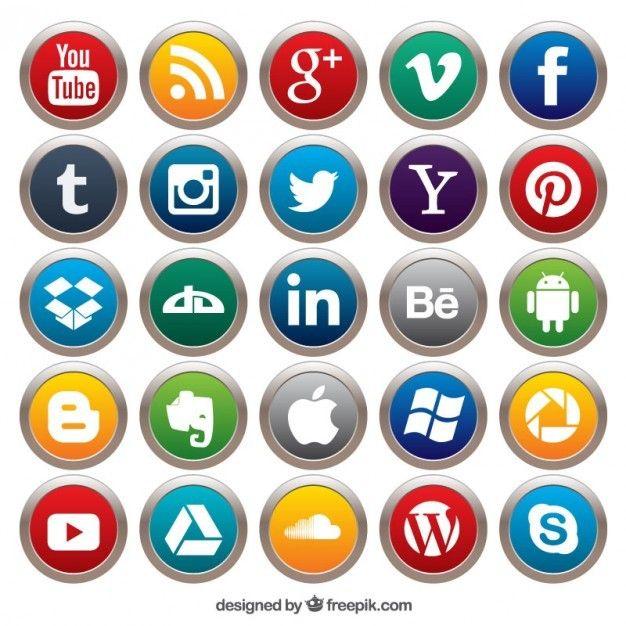 Life log 31 :: 예쁜 SNS 소셜 미디어 플랫 아이콘 일러스트 이미지 15set (페이스북, 트위터, 핀터레스트, 비미오 등)