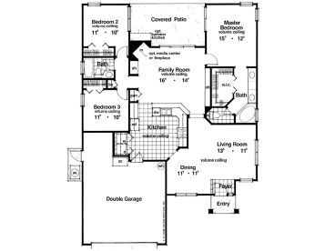 1800 Sq Ft Floor Plans With 3 Bedrooms On One Level ~ Home Plan ...