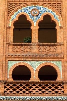 Detalles de Arquitectura de Arena Plaza de Toros de Las Ventas, Madrid,