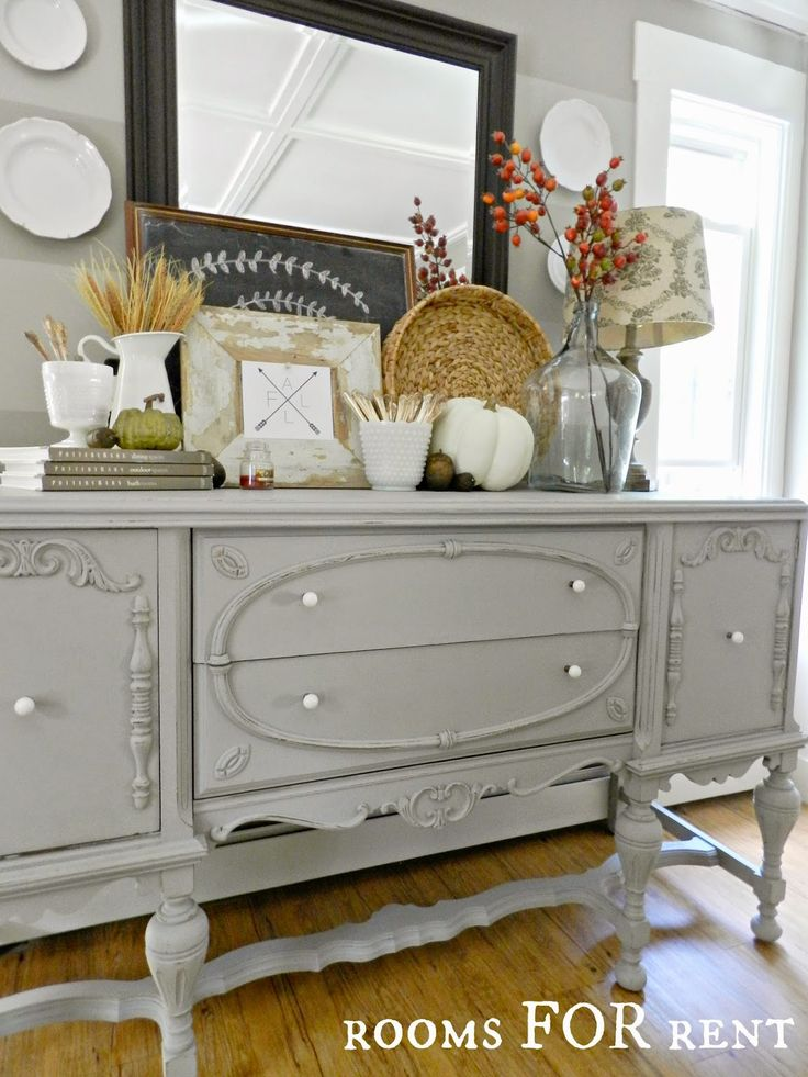 rooms for rent painted antique buffet reveal - Dining Room Sideboard Decorating Ideas