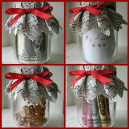 How To Wrap Gifts Using Baby Food Jars