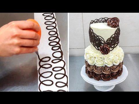 Chocolate Decoration Cake by CakesStepbyStep - YouTube