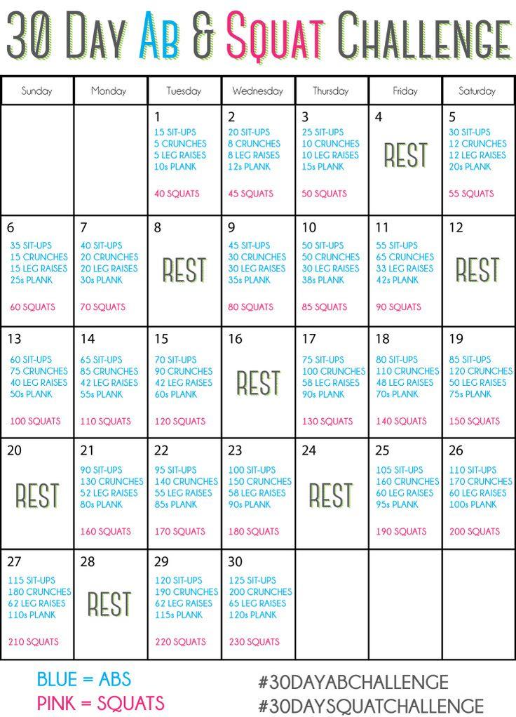 30 Day Ab & Squat Challenge #30dayabchallenge #30daysquatchallenge #springintoshape