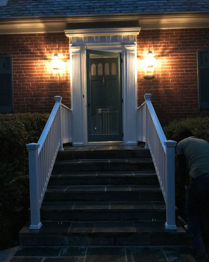 I think I got a decent night shot of this front railing and masonry we repaired and restored. . . . Don't forget to follow us!! We will have some amazing projects coming up soon!  #5thgengroup #construction #remodeling #homeimprovements #carpentry #instagood #woodworking #kitchens #baths #decks #porches #customcarpentry #designbuild #smallbusiness #contractor #washingtondc #dccontractor #historicrestoration #dc #bethesda #dmvlife #nova  #stonework #metalwork #windows #customwindows #painting…