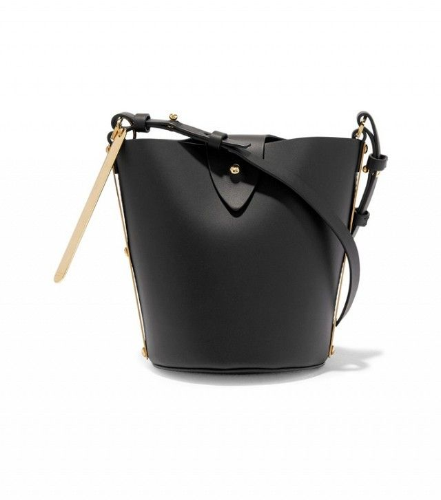 This handy little Sophie Hulme bucket bag is a *very* good choice from the Net A Porter sale. #ad