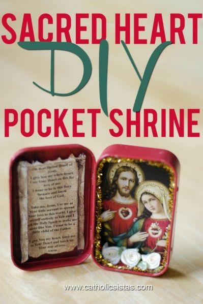 Catholic Pocket Shrine | DIY Sacred Heart Pocket Shrine - Catholic Sistas
